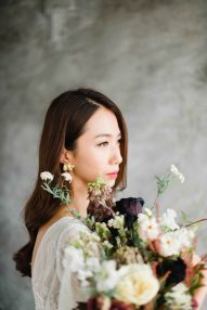 bridal portrait for Jennifer | studio shoot by Sophia Kwan Weddings